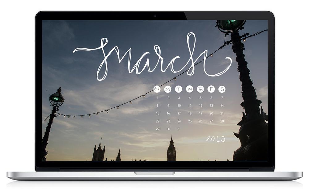 March 2015 Desktop Calendar | Sea of Atlas