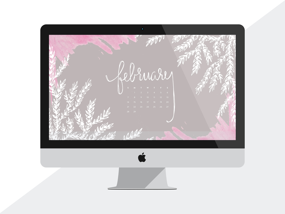 Desktop Calendar � February 2016 Wallpaper | Sea of Atlas