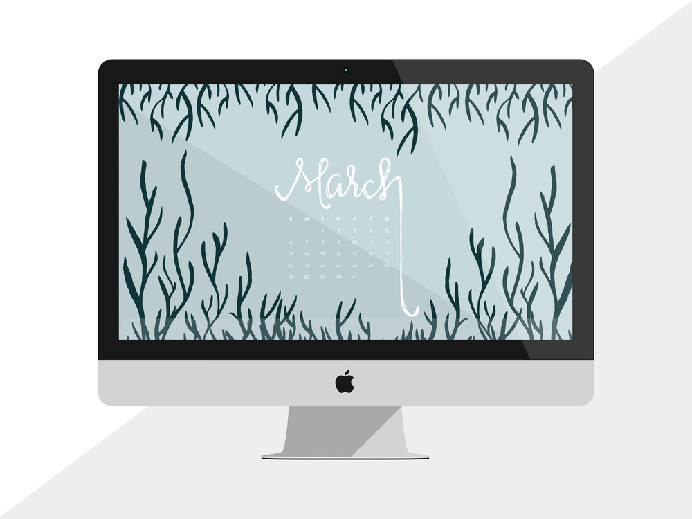 Desktop Calendar: March 2016 Wallpaper | Sea of Atlas