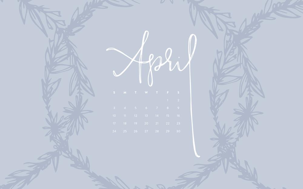 Desktop Wallpaper: April 2016 Calendar | Sea of Atlas