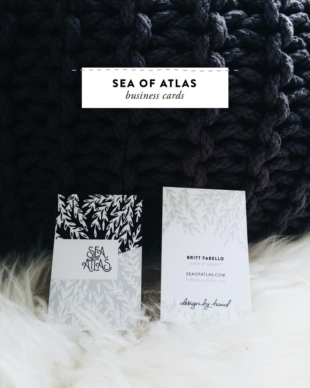 Sea of Atlas Journey: New Business Cards   Sea of Atlas