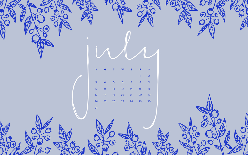 Desktop Wallpaper: July 2016 Calendar | Sea of Atlas