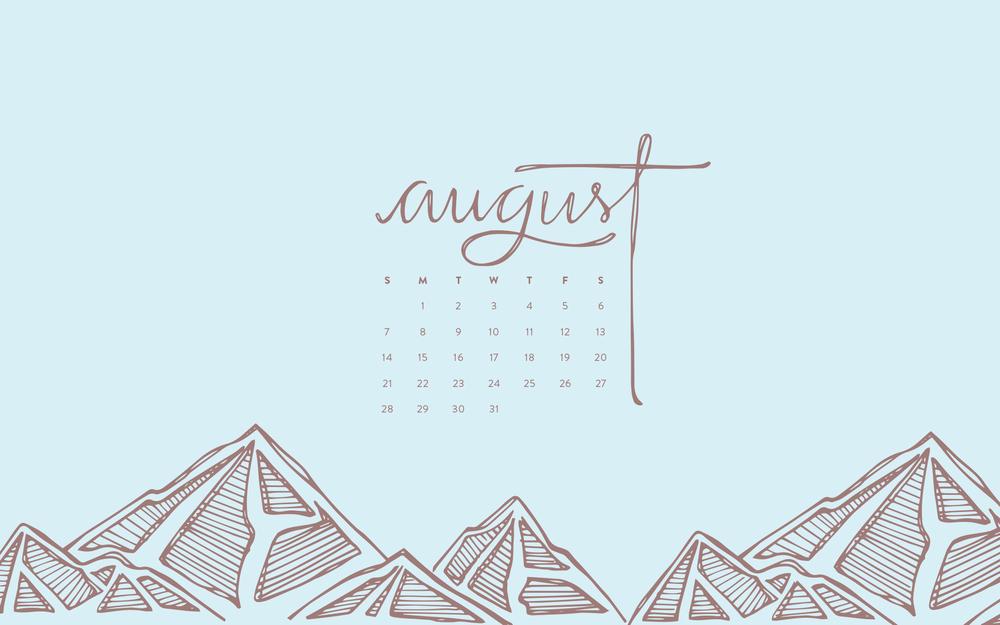Desktop Wallpaper: August 2016 Calendar | Sea of Atlas