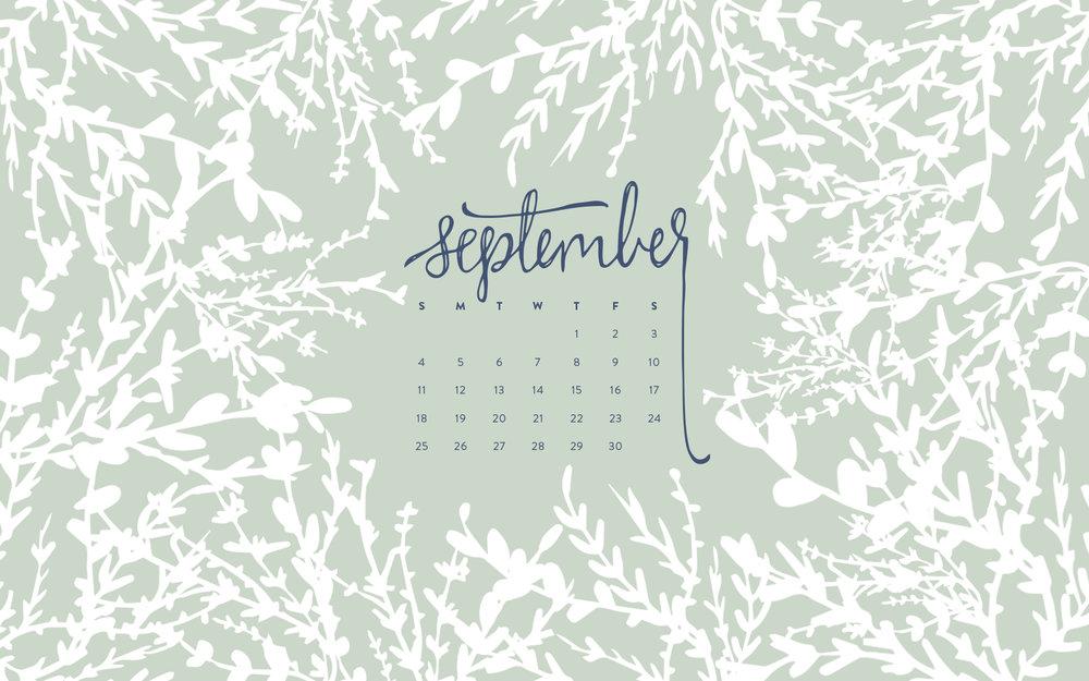 Desktop Wallpaper: September 2016 Calendar | Sea of Atlas