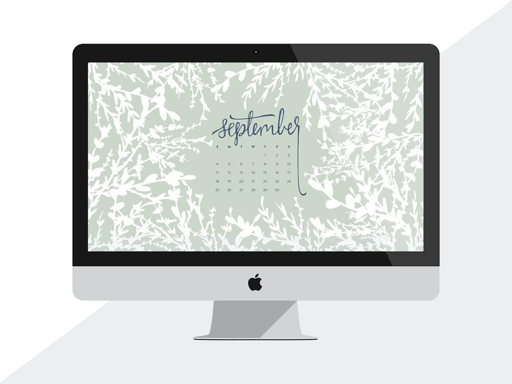 Desktop Wallpaper: September 2016 Calendar