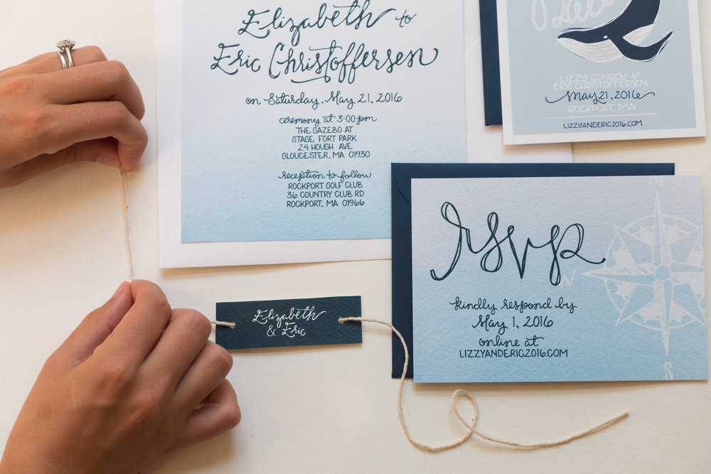 Elizabeth & Eric's Nautical Wedding Invitation Suite | Sea of Atlas