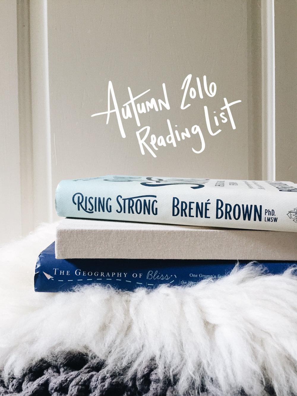 Autumn 2016 Reading List | Sea of Atlas