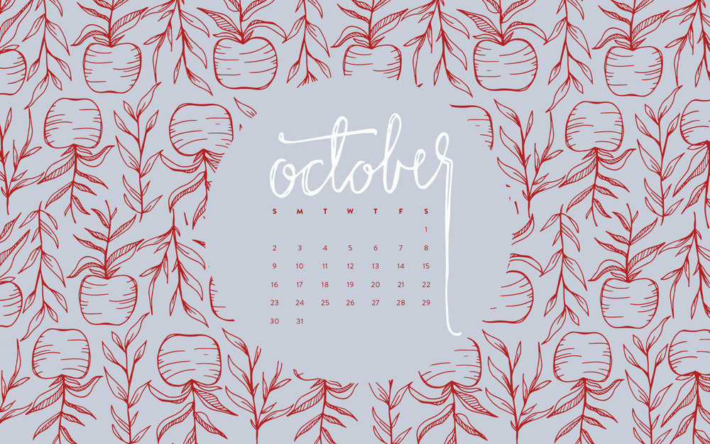 Desktop Wallpaper: October 2016 Calendar | Sea of Atlas