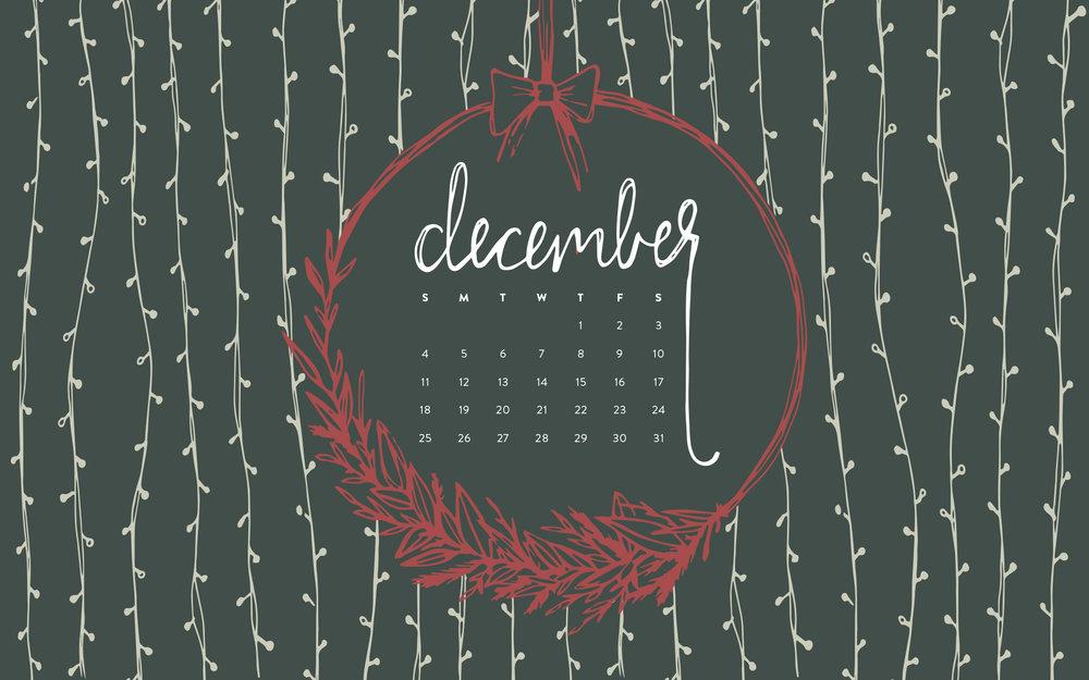 Desktop Wallpaper: December 2016 Calendar | Sea of Atlas
