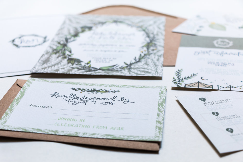 Katy & Nate's Camping & Nature Inspired Wedding Stationery | Sea of Atlas