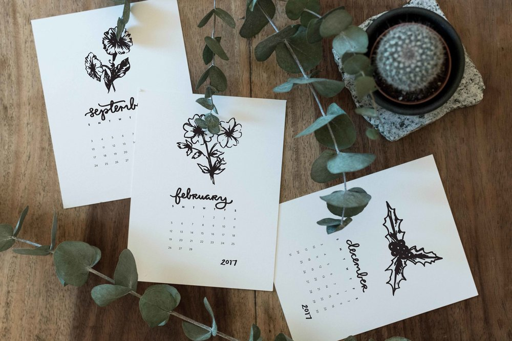 Printable 2017 Floral Calendar | Sea of Atlas