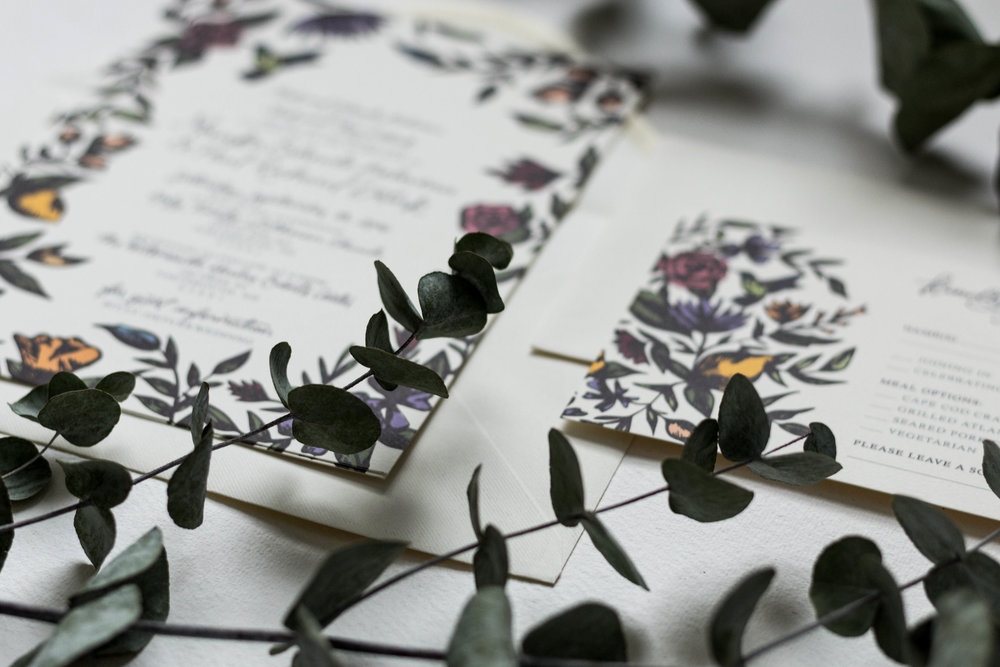Monika & Paul's Vintage Floral Wedding Stationery | Britt Fabello | Sea of Atlas