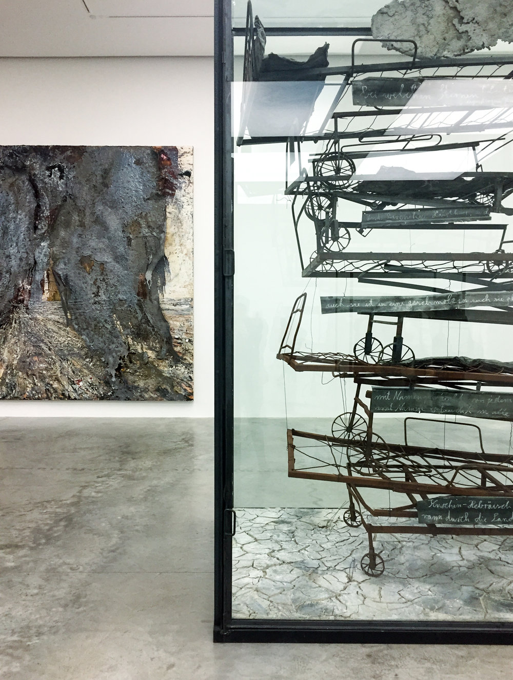 Walhalla (left), Himmelsschlucht (right) / Ansel Kiefer