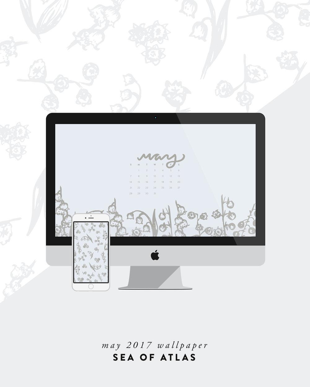 Desktop Wallpaper: May 2017 Calendar | Sea of Atlas