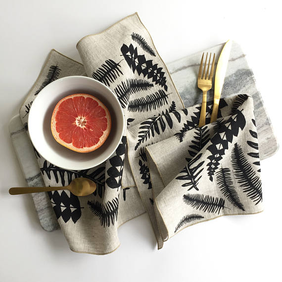 The Handmade List: Cloth Napkins | Bonnie Kaye Studio | Sea of Atlas