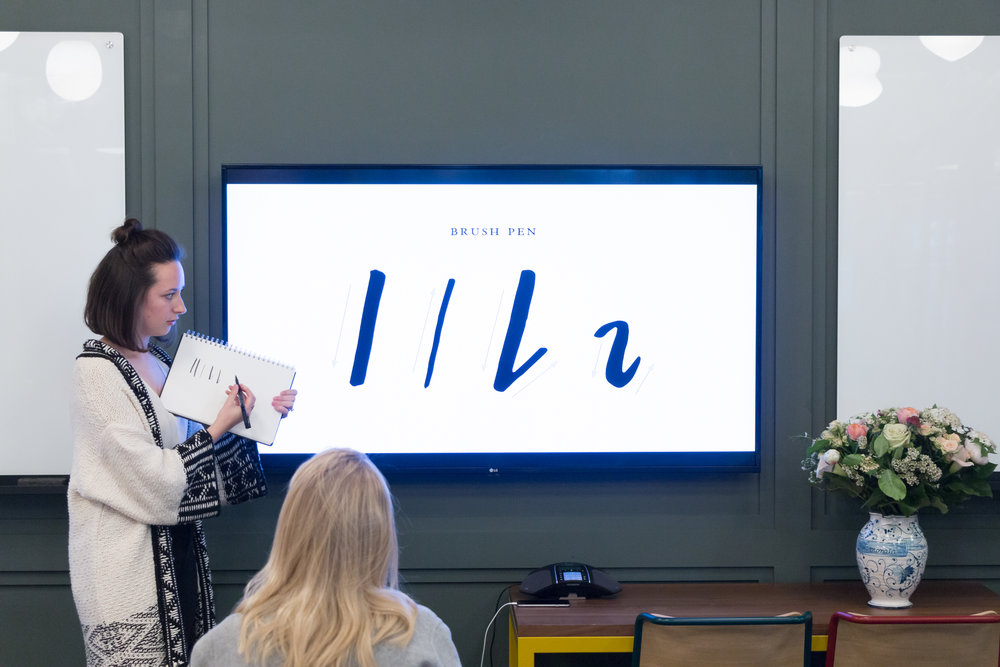 Teaching Hand Lettering At The Creating For Good Conference | Britt Fabello | Sea of Atlas