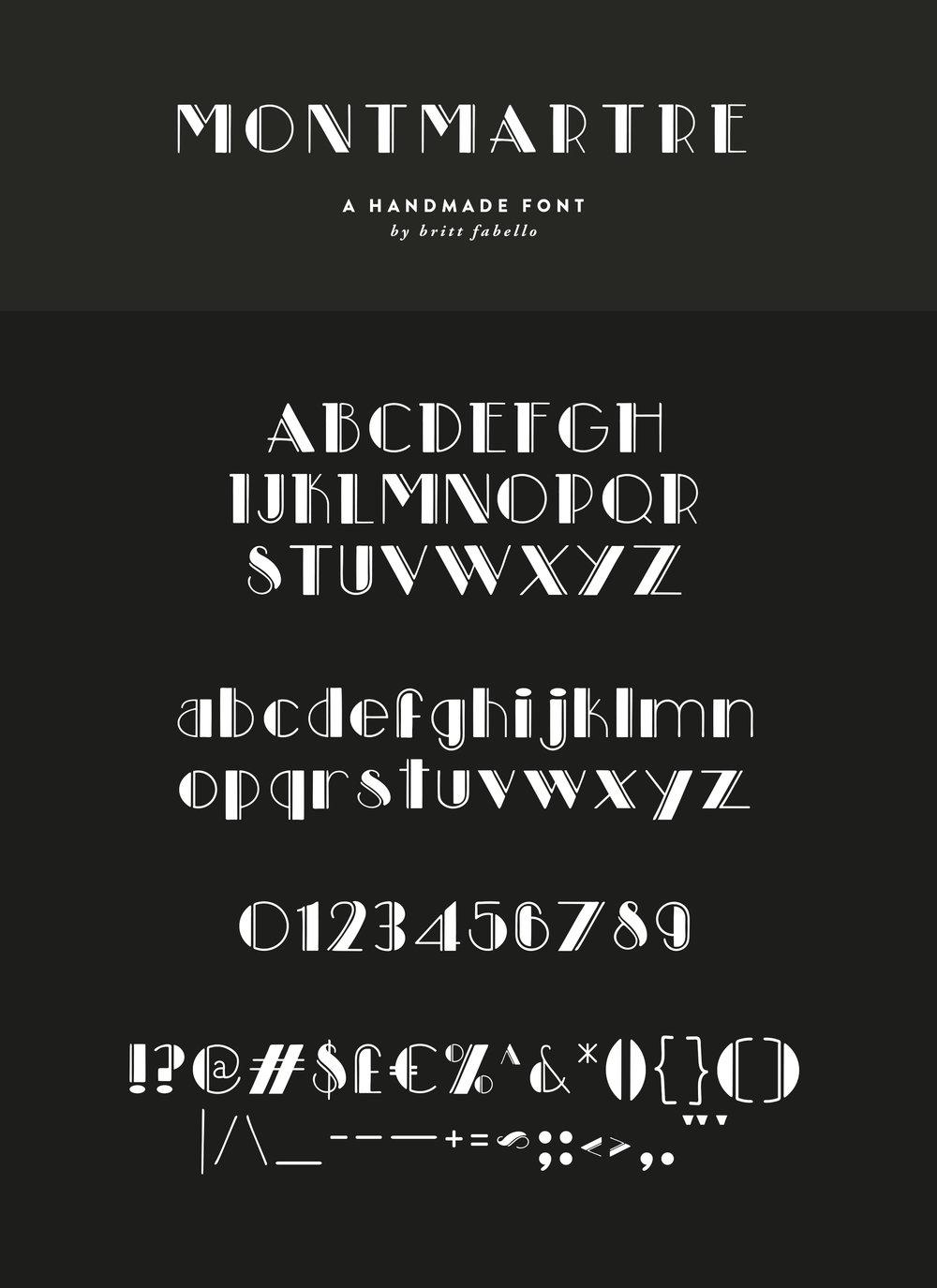 Hand-lettered Font Stories: Montmartre | Britt Fabello | Sea of Atlas
