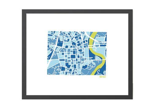 Belfast City Map - illustration print — richardedalton