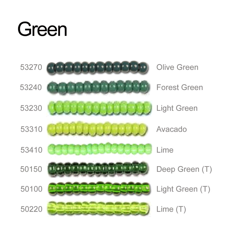 Green Seeds Beads