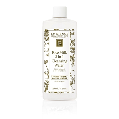 3 in 1 Rice Milk Cleanser removes makeup, cleans your skin and tones with out needing to rinse. Perfect bed side companion.