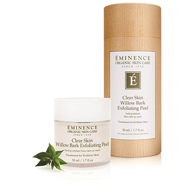 A deep-cleansing, clarifying peel solution with cotton round pads for problem skin types, clarifying and refining the complexion without irritation. Willow bark calms the look of skin while lilac and azelaic acid help to reduce the appearance of redness and inflammation. Used often on ingrown hairs and breakouts any where on face or body and the exfoliating, anti-inflammatory action not only gets rid of the problem quickly, but also refines pores and keeps skin looking smooth, without drying out the skin. There is also a line of Willow Bark Clear Skin products that work even better together when dealing with problem skin.