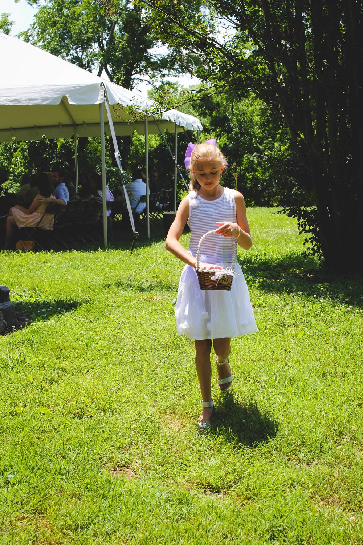Kenzie, the flower girl