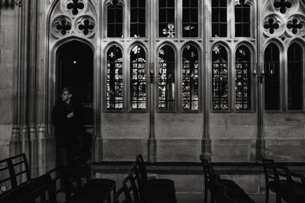 john in King's College Chapel