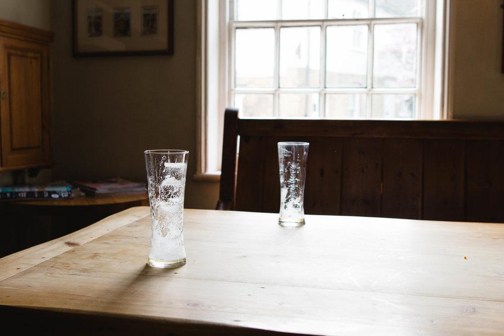 left overs of the table next door