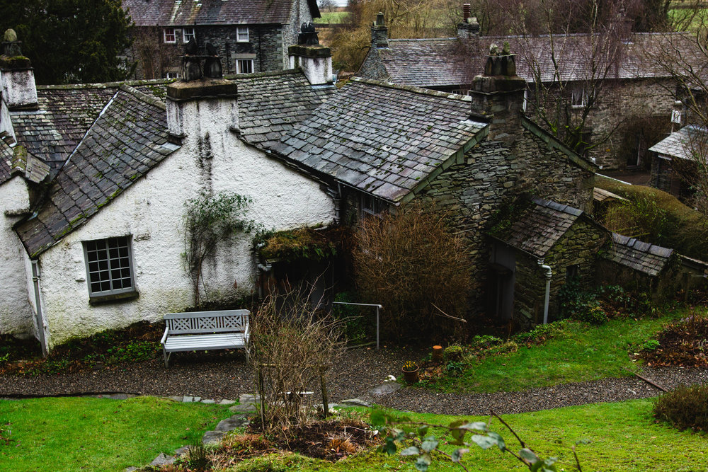 Dove Cottage from Wordsworth's writing shelter.