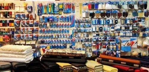 Stoffe Nürnberg sortiment stoffe knöpfe reißverschlüsse jerseystoffe baumwolle