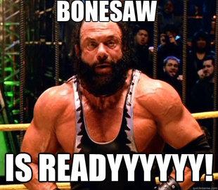 Bonesaw.  He is ready.