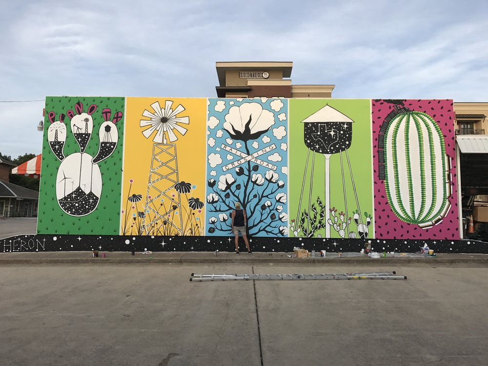 Plano Mural Project   Downtown Plano, July, 2017  Commissioned by the Plano Arts Association,  Historic Downtown Plano Association , and the Heritage Commission.