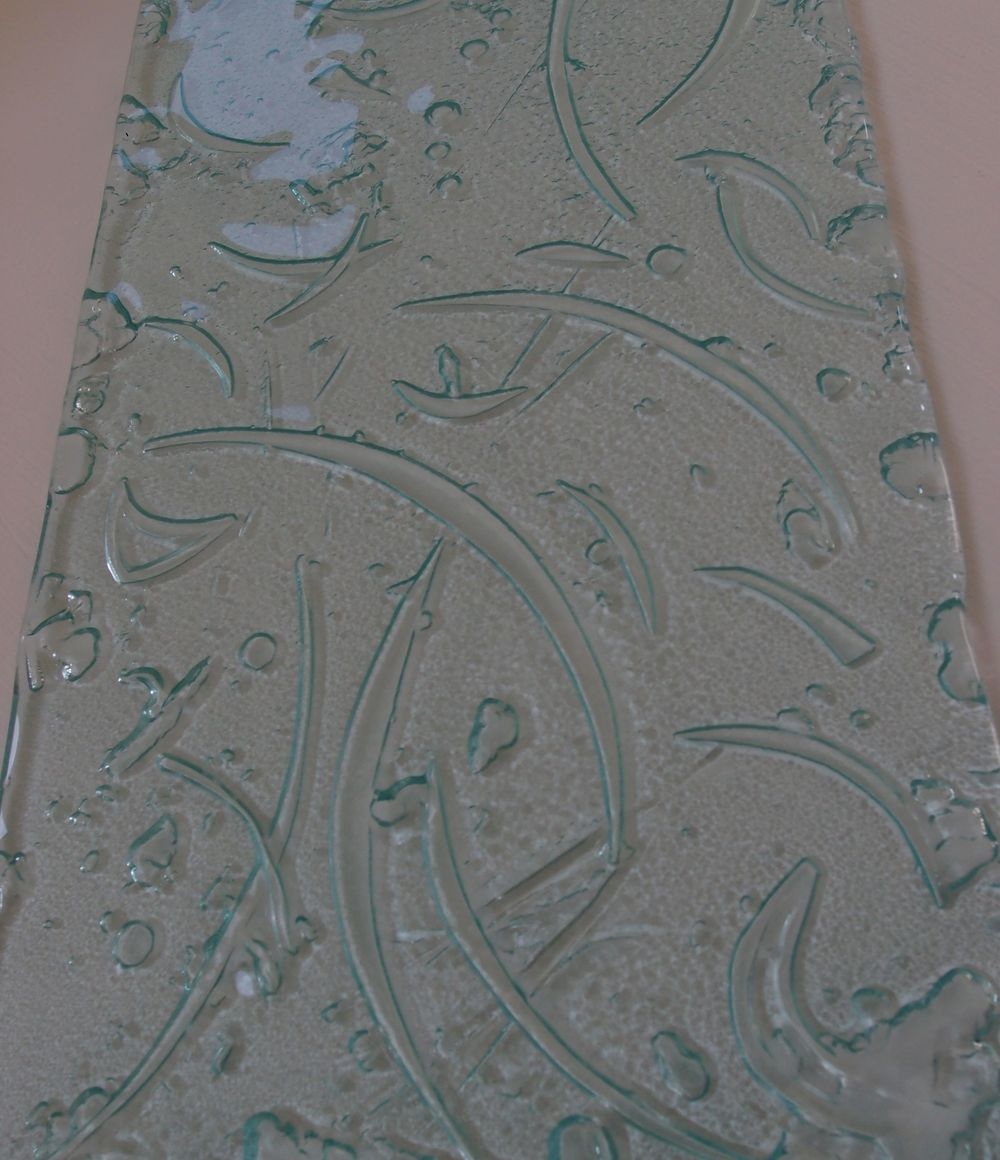 10 mm 100% recycled glass kiln-carved platter