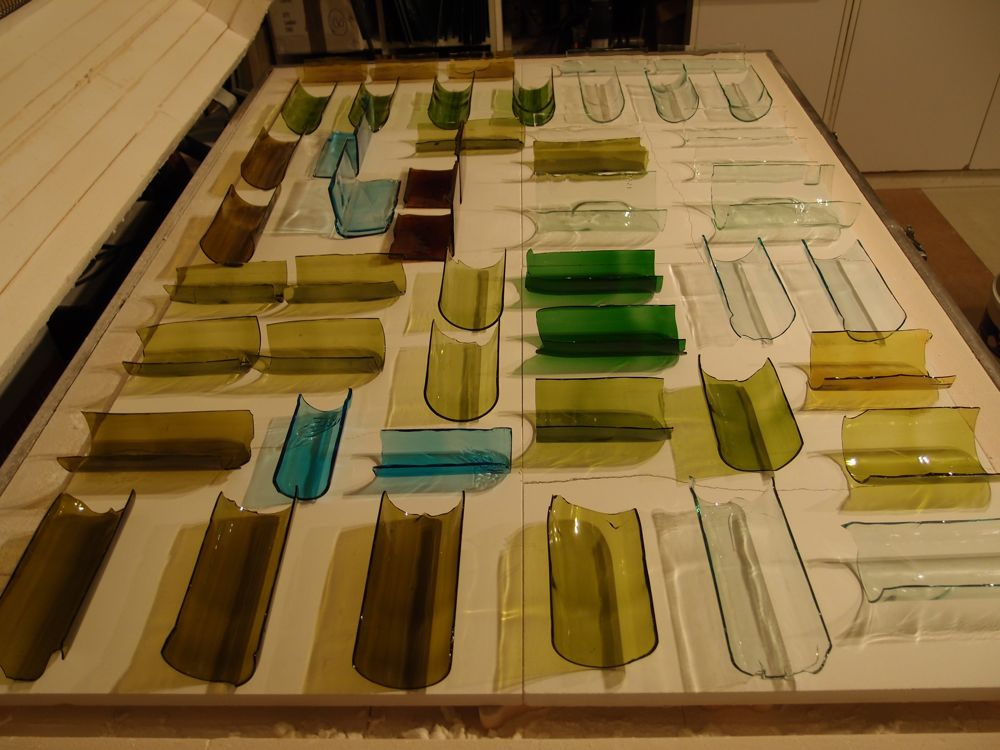 Creating flat sheets in the kiln