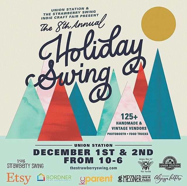 You can shop small and local and find us at The Holiday Swing next weekend, along with 150 other handmade and vintage vendors. Support your communities and find one-of-a-kind holiday gifts December 1st and 2nd at Union Station.