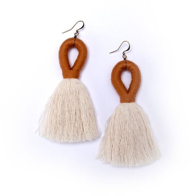 Cotton tassel earrings were the hit of the holiday season. But they pair perfectly with jeans and a sweater!  The store is fully stocked w each color.