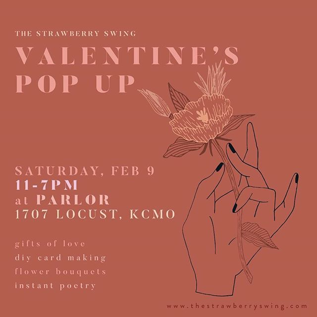 There's still time to come on down for some sweeeeeet Valentine's Day gifts! Come see us at the @strawberryswingkc in the crossroads @parlorkcmo. Open till 7pm!