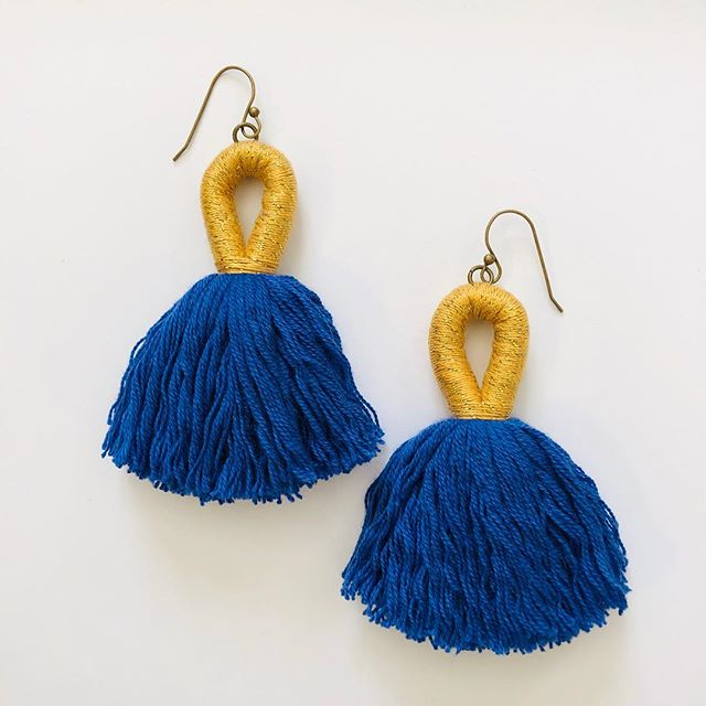 We're getting ready for opening day at the K!!! It's only a few weeks away so snag a pair of these limited edition royal and gold tassels before they are gone.  #tuckerandscout #tasselearrings #openingday #kcroyals #handmadejewelry #madeinkc #royals