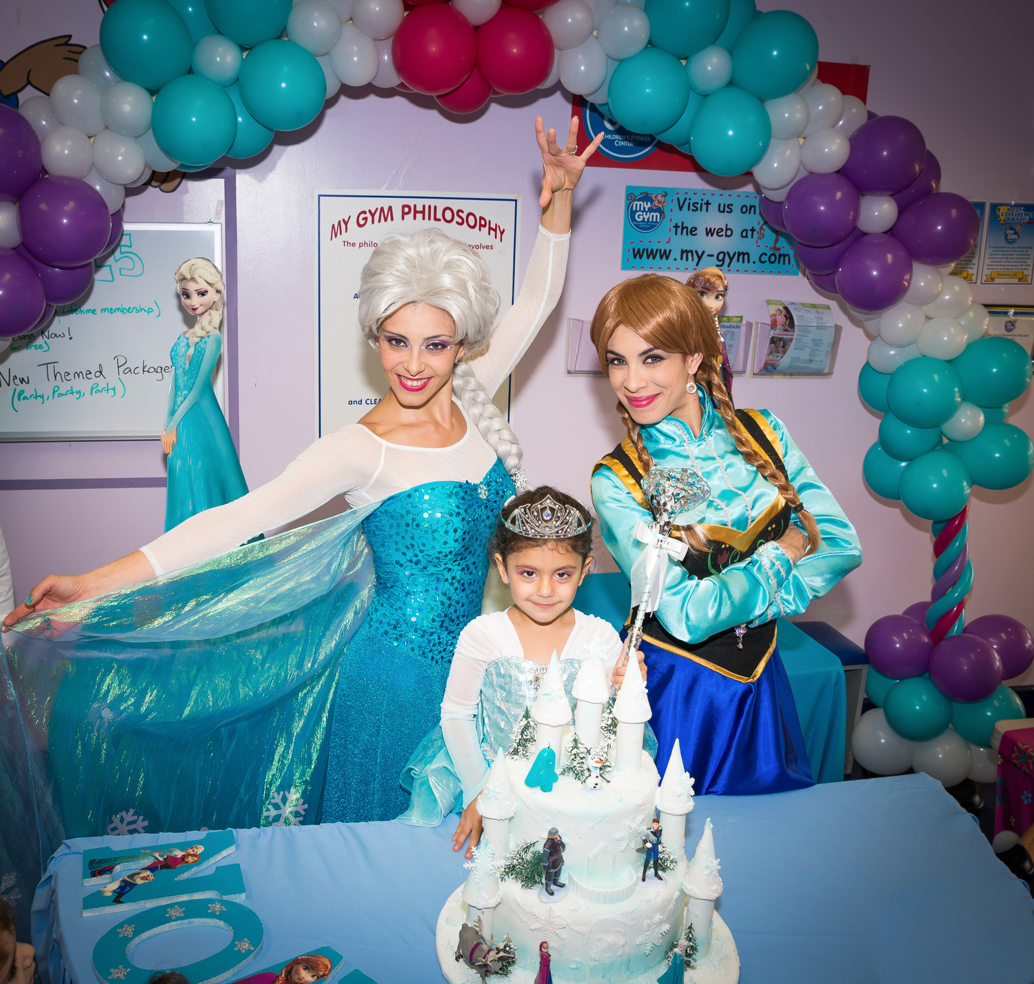 Frozen Birthday Party My Gym ZOOM In Motion Photography
