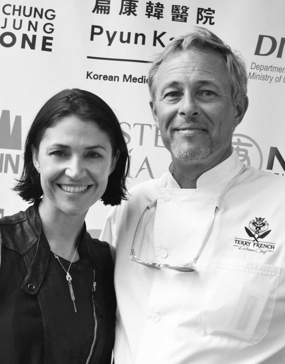 Angela Gilltrap and Chef Terry French