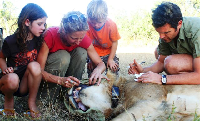 Alayne Oriol-Cotterill and family,Laikipia, Kenya