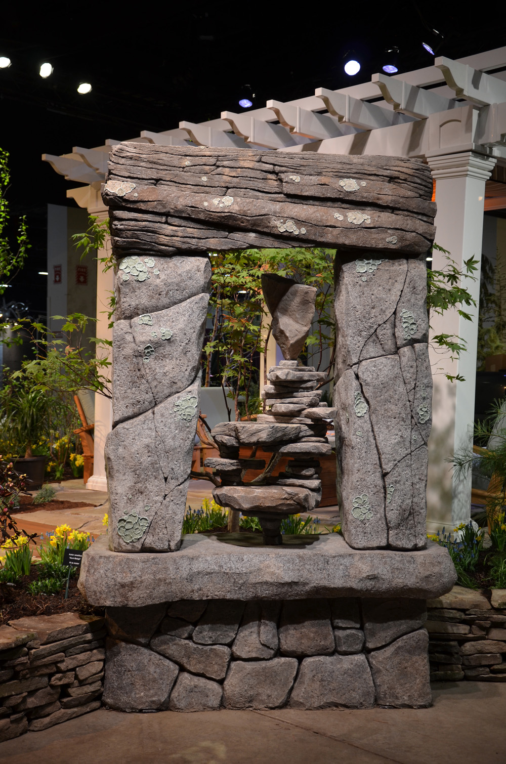 Boston Flower Show_Rock Sculpture