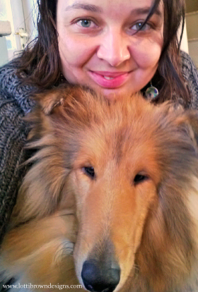 Me and my rough collie teen-puppy Noah