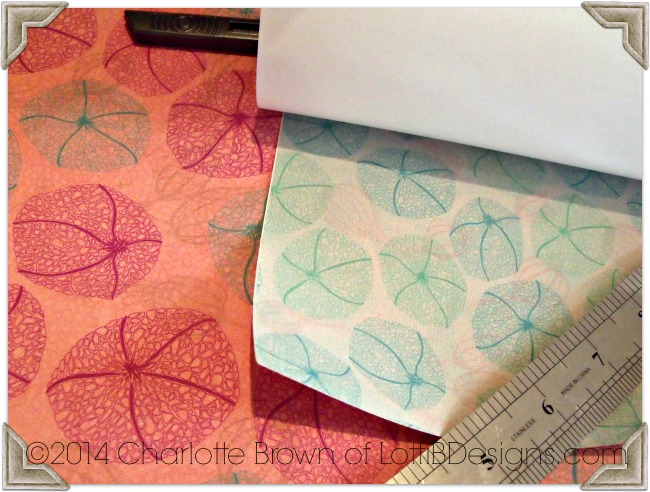 We will use these pretty woven papers to make the covers for our book