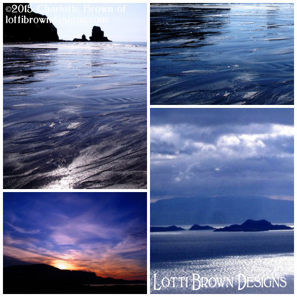 Gorgeous deep blues in the seas and skies around Skye, Scotland - dramatic blues!