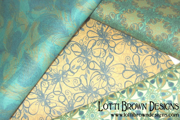 Feathers & Finery fabric collection by Lotti Brown