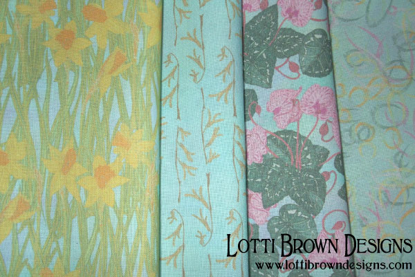 Blue Skies in Springtime fabric collection by Lotti Brown