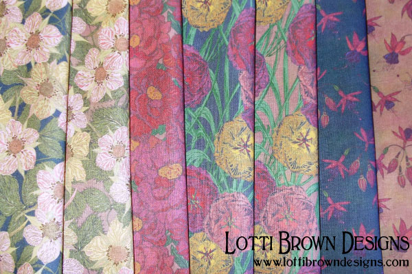 Nostalgic Flowers fabric collection by Lotti Brown