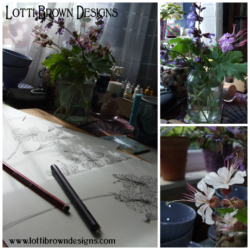 Being inspired by flowers from my own cottage garden