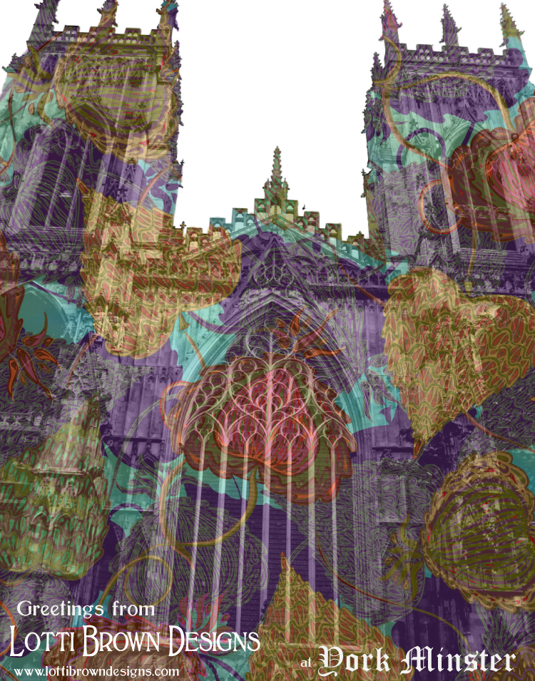 Patternbombing York Minster with one of my patterns